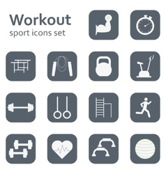 Set of sport icons sport fitness gym vector