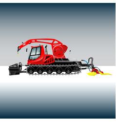 Snowcat 2 vector image