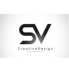 Sv s v letter logo design creative icon modern vector