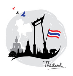 thailand place landmark travel icon cartoon vector image
