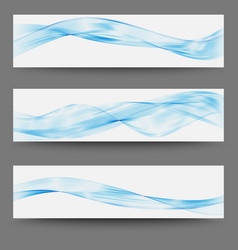 three minimalistic divider wave swoosh set soft vector image