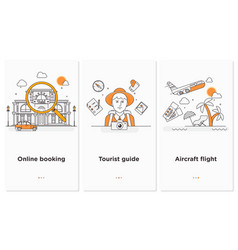 travel web infographicwebsite plan vector image