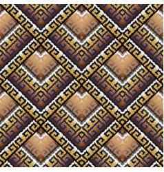 Tribal geometric seamless pattern greek key vector
