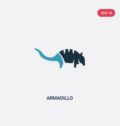 Two color armadillo icon from animals concept vector