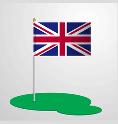 united kingdom flag pole vector image