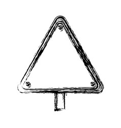 warning traffic sign icon vector image