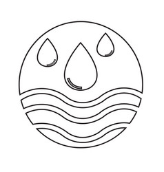 water icon design vector image
