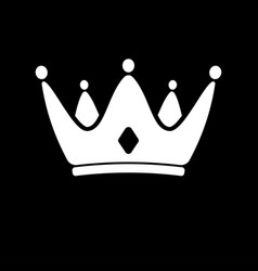 white crown icon symbol king royal vector image