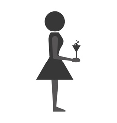 Woman with wine icon design vector