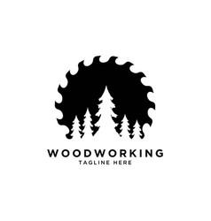 wood working logo vector image