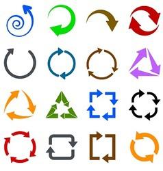 Circulation arrows icons set vector image vector image