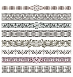 Ethnic native american border patterns vector image