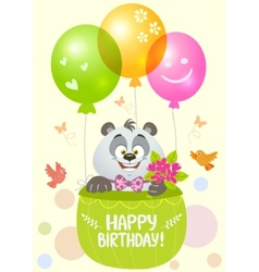 panda birthday vector image vector image