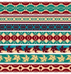 set of vintage borders vector image vector image