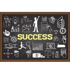 Success on chalkboard vector image