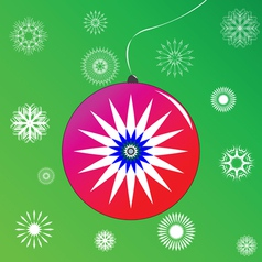 christmas globe vector image vector image