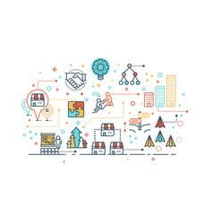 franchise business concept vector image