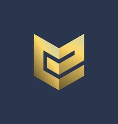 Letter E shield logo icon design template elements vector image vector image