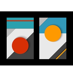 Material design set of abstract paper shapes vector image
