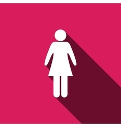 woman icon isolated symbol vector image