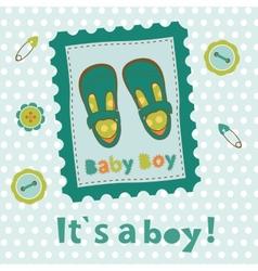 Baby boy card vector image vector image