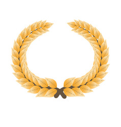 gorgeous gold laurel wreath isolated cartoon flat vector image vector image
