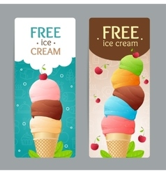 Ice Cream Coupon Set vector image