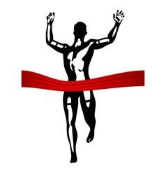 marathon finish line vector image