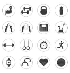 Set of sport and fitness icons Sport vector image vector image