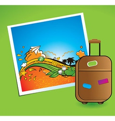 summer and traveling vector image vector image