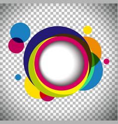 background template with colorful circles vector image vector image