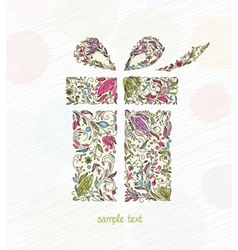 doodles christmas greeting card vector image vector image