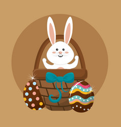 happy easter day icon vector image vector image