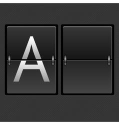 mechanical timetable empty vector image