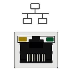 Network ethernet port vector image vector image