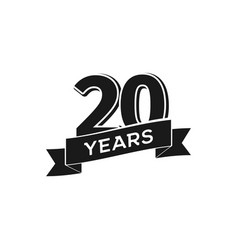 20 years anniversary logotype isolated vector
