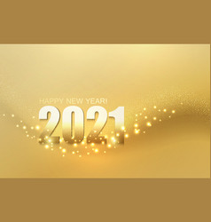 2021 new year abstract shiny color gold light vector image