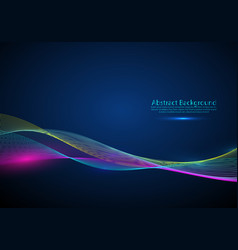 Abstract background with dynamic colorful vector
