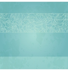 Abstract floral template for card vector image
