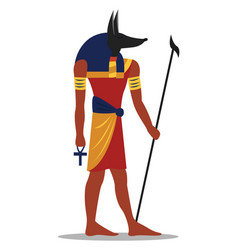 ancient egyptian god on white background vector image