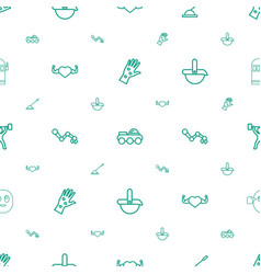 Arm icons pattern seamless white background vector