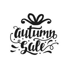 Autumn sale banner with cute unique hand lettering vector