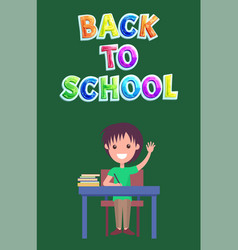 Back to school poster with kid vector