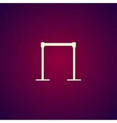 barricade icon concept for vector image