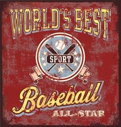 baseball world best sport vector image