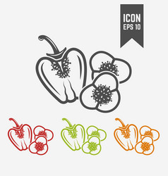 bell pepper isolated silhouette icon vector image