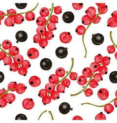 Black and red currant seamless pattern vector image