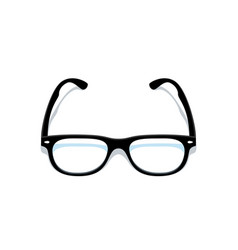 black glasses eyeglasses frame silhouette black vector image