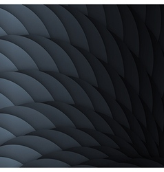Black scales abstract geometric background with vector