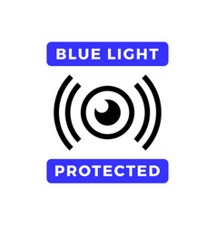 Blue light protected eye symbol blue light causes vector